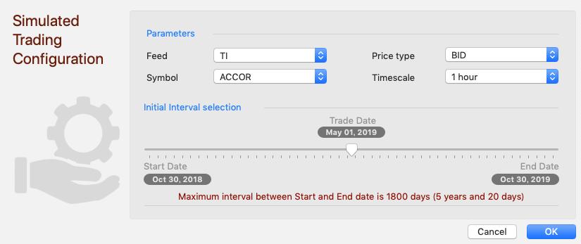 過去検証するチャートの基本設定